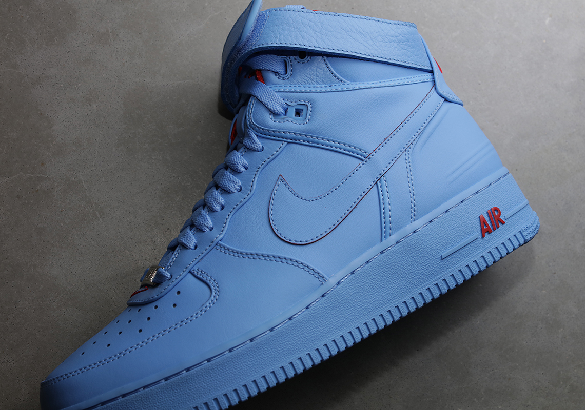 Don C Revisits His Nike Air Force 1 High Trilogy With Chicago Flag Colors - Sneaker News