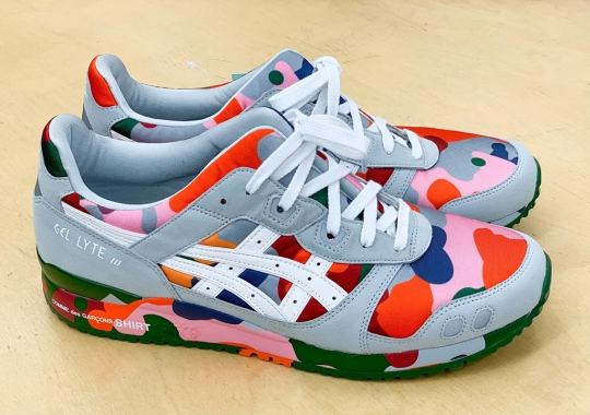 COMME des GARÇONS SHIRT Has An ASICS GEL-Lyte III In Colorful Camo
