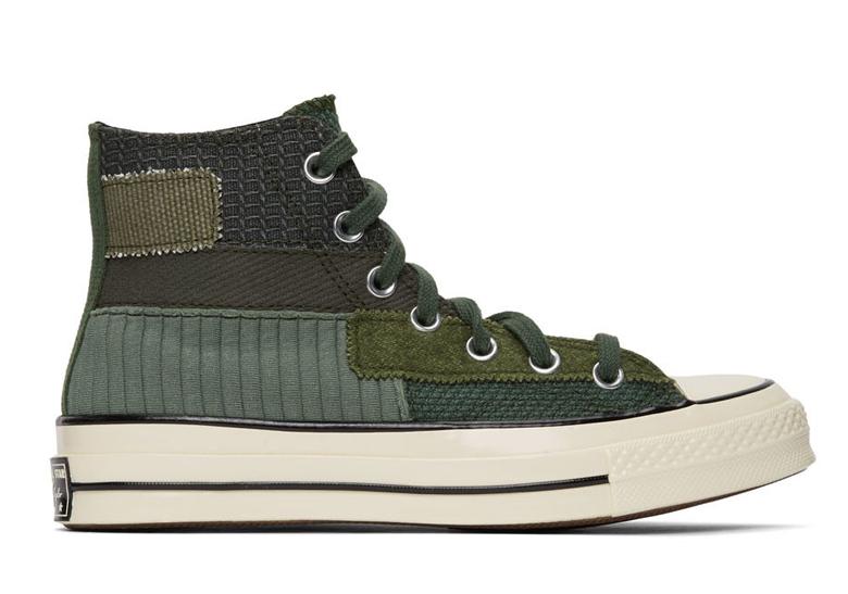 Converse Chuck 70 High Green Patchwork