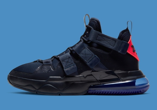 The Nike Air Edge 270 Gets Patent Leather Navy Uppers