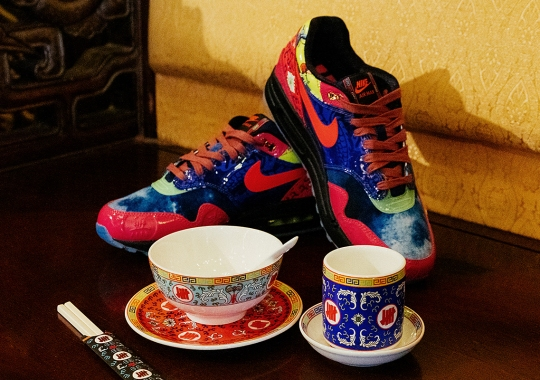 "UNDEFEATED Crafts Traditional Tableware For The Asia Exclusive Nike Air Max 1 ""Chinese New Year"""