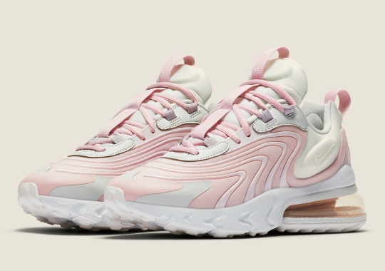 The Nike Air Max 270 React ENG Appears In A Soft Rose Hue