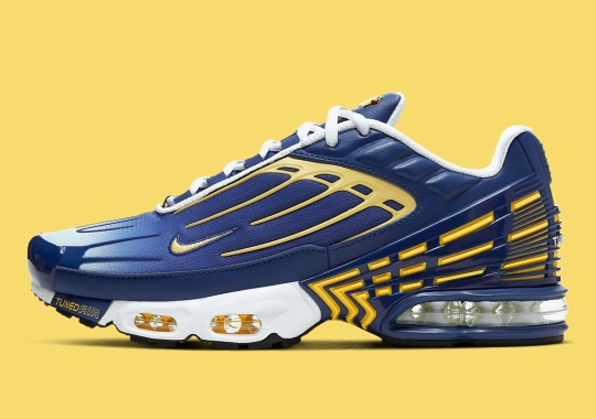 The Nike Air Max Plus 3 Emerges In Deep Royal And Topaz Yellow