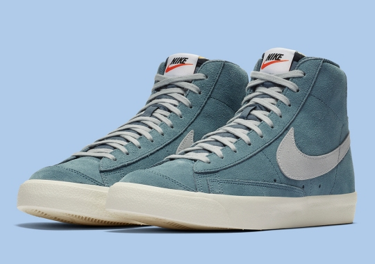 The Nike Blazer Mid '77 Drops Soon In Thunderstorm Blue Suede