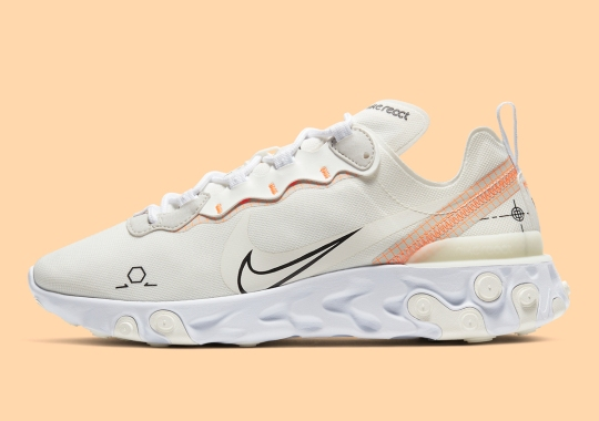 "The Nike React Element 55 ""Schematic"" Arrives With Light Orange Touches"