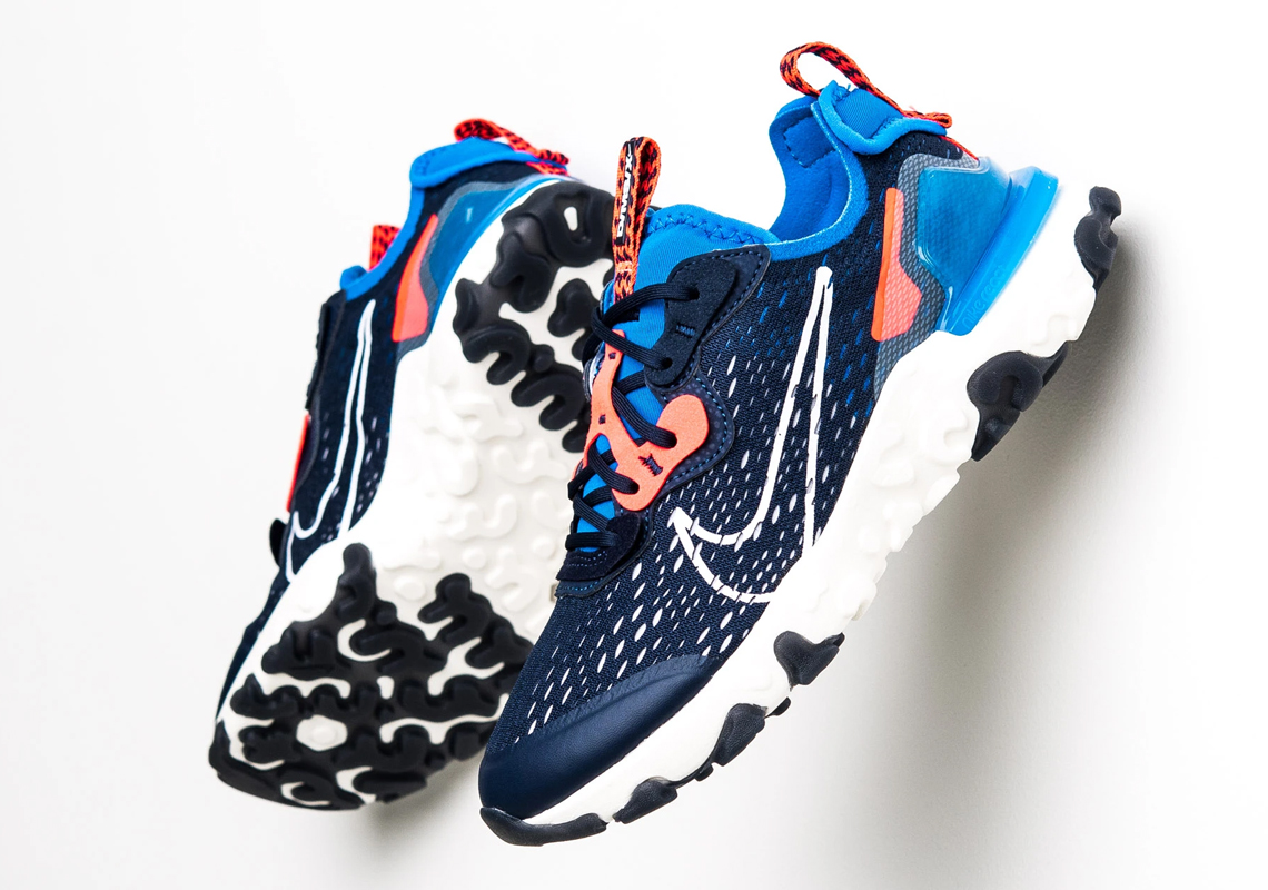Nike React Vision Midnight Navy GS CD6888-400 ...