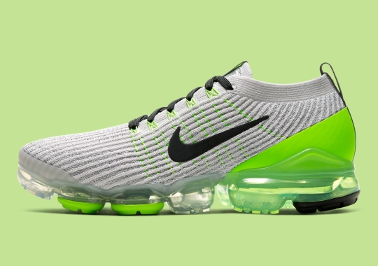 The Nike Vapormax Flyknit 3 Gets Classic Grey And Volt Treatment