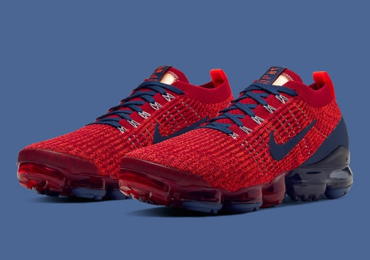 The Nike Vapormax Flyknit 3 Arrives in Noble Red And Navy