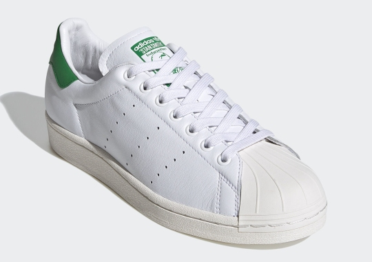 The adidas Superstan Is A Hybrid Of The Brand's Two Most Iconic Originals Models