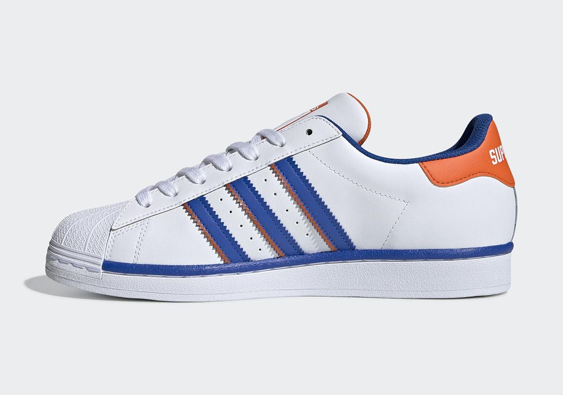 adidas Superstar Rivalry White Blue Orange FV2807