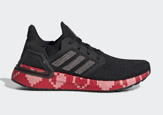 8-Bit Heart Graphics Appear On The adidas Ultra Boost 20