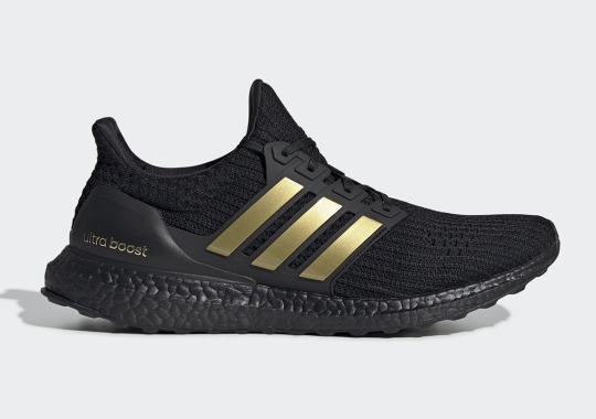 A Black And Metallic Gold Mix Returns To The adidas Ultra Boost DNA