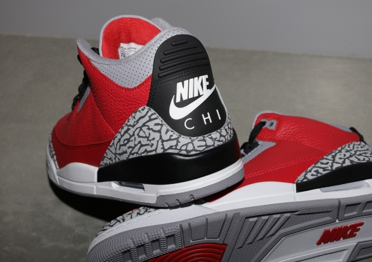 "Air Jordan 3 ""Fire Red"" With NIKE CHI Logo Will Release Exclusively In Chicago"