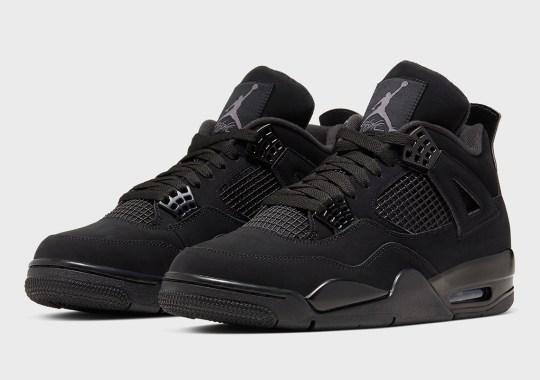 """Official Images Of The Air Jordan 4 """"Black Cat"""""""