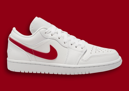 The Air Jordan 1 Low Continues Its Run With White And Varsity Red
