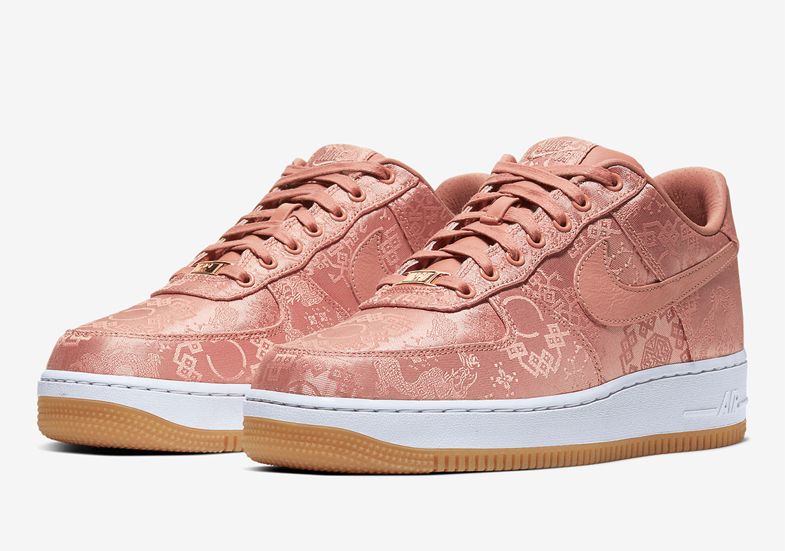 CLOT Nike Air Force 1 Rose Gold Silk Release Date ...