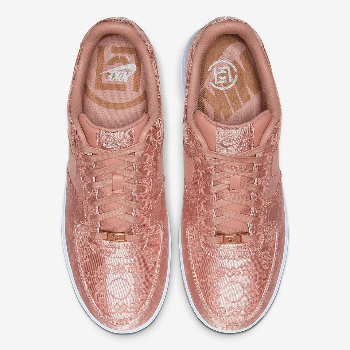 CLOT Nike Air Force 1 Rose Gold Silk Release Date | SneakerNews.com