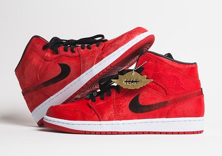 CLOT Air Jordan 1 Mid Red Giveaway   SneakerNews.com