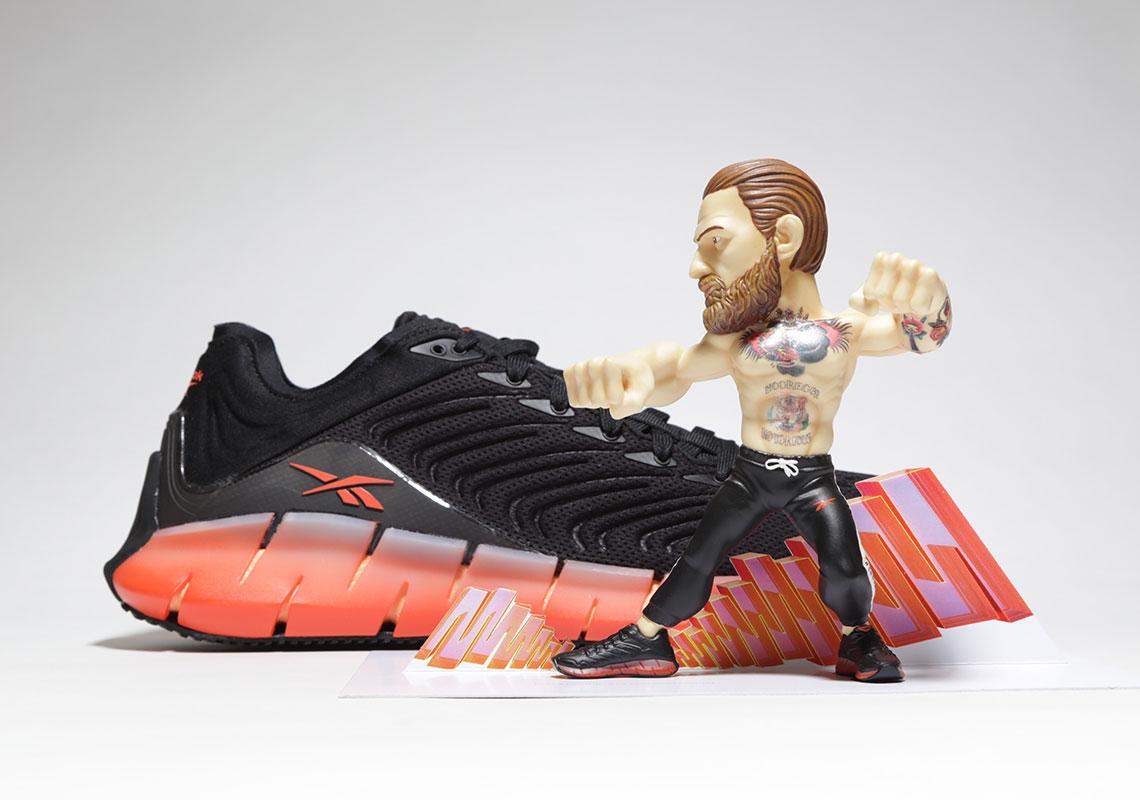 Reebok Zig Kinetica Conor McGregor ZigTech Black Yellow Men Running Shoes FV3858