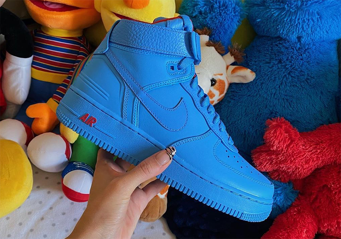 Just Don Nike Air Force 1 High Blue Release Date Sneakernews Com