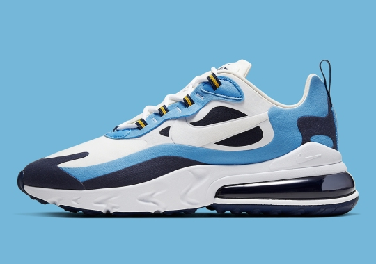The Nike Air Max 270 React Gets Some UNC Tar Heel Flavor