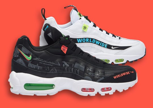 "The Nike Air Max 95 ""Worldwide Pack"" Decorates The Classic With International Themes"