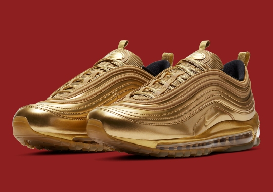 The Nike Air Max 97 Goes Completely Gold