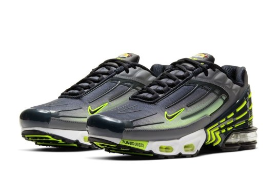 The Nike Air Max Plus 3 Arrives In Grey And Volt