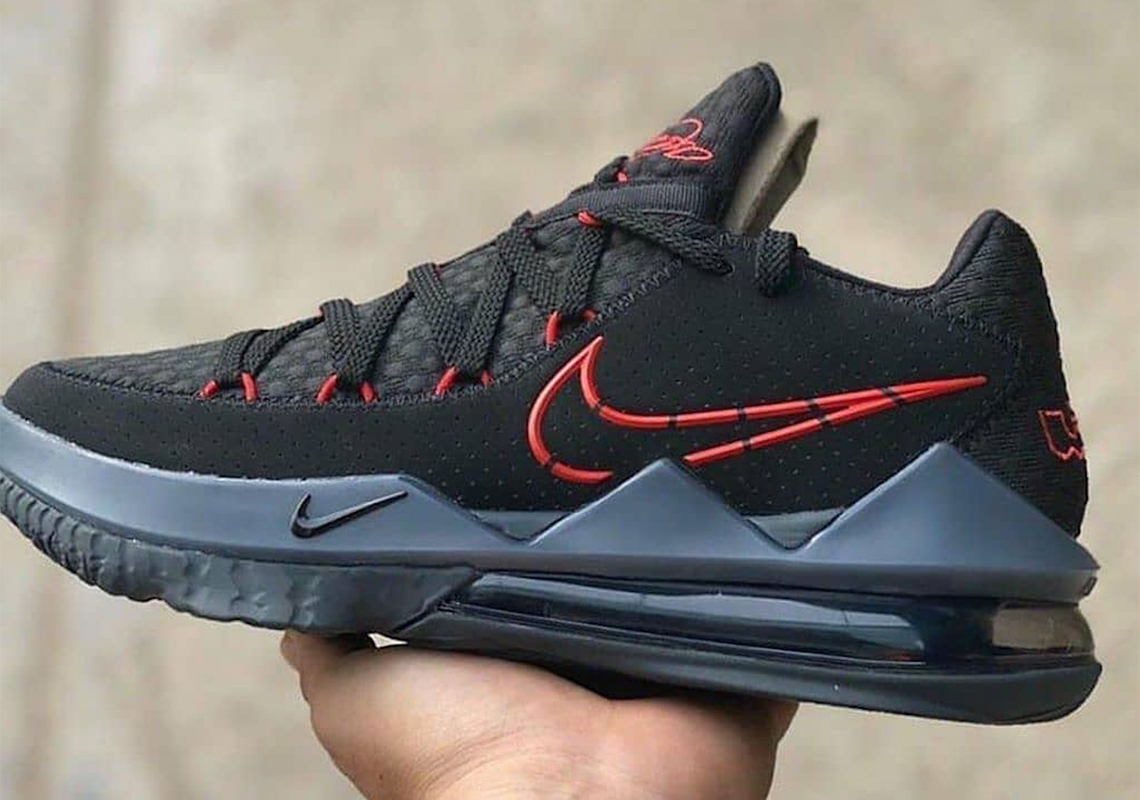 Nike LeBron 17 Low Black Red CD5007-001 Release Date | SneakerNews.com