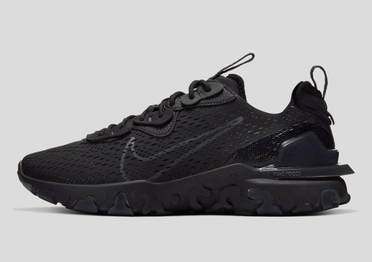 The Nike React Vision Appears In Triple Black