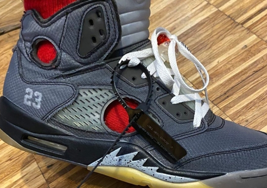 Off-White x Air Jordan 5 Spotted With Circular Windows Cut Out