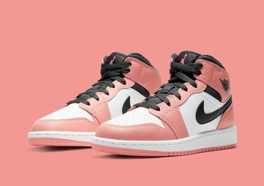 "Air Jordan 1 Mid ""Pink Quartz"" Is Arriving Soon For Girls"
