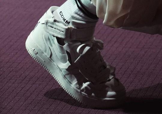 COMME des GARÇONS Reveals Nike Air Force 1 Mid Collaboration At Paris Fashion Week