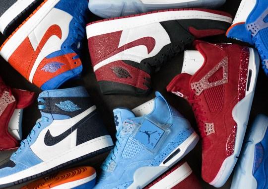 Up Close With The Air Jordan 1 And Air Jordan 4 PEs For UNC, Florida, And Oklahoma