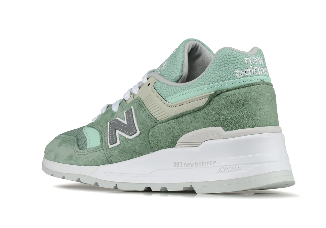 New Balance 997 Made In USA Mint Suede | SneakerNews.com