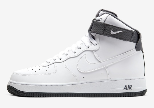 The Nike Air Force 1 High Keeps It Classic With White And Wolf Grey