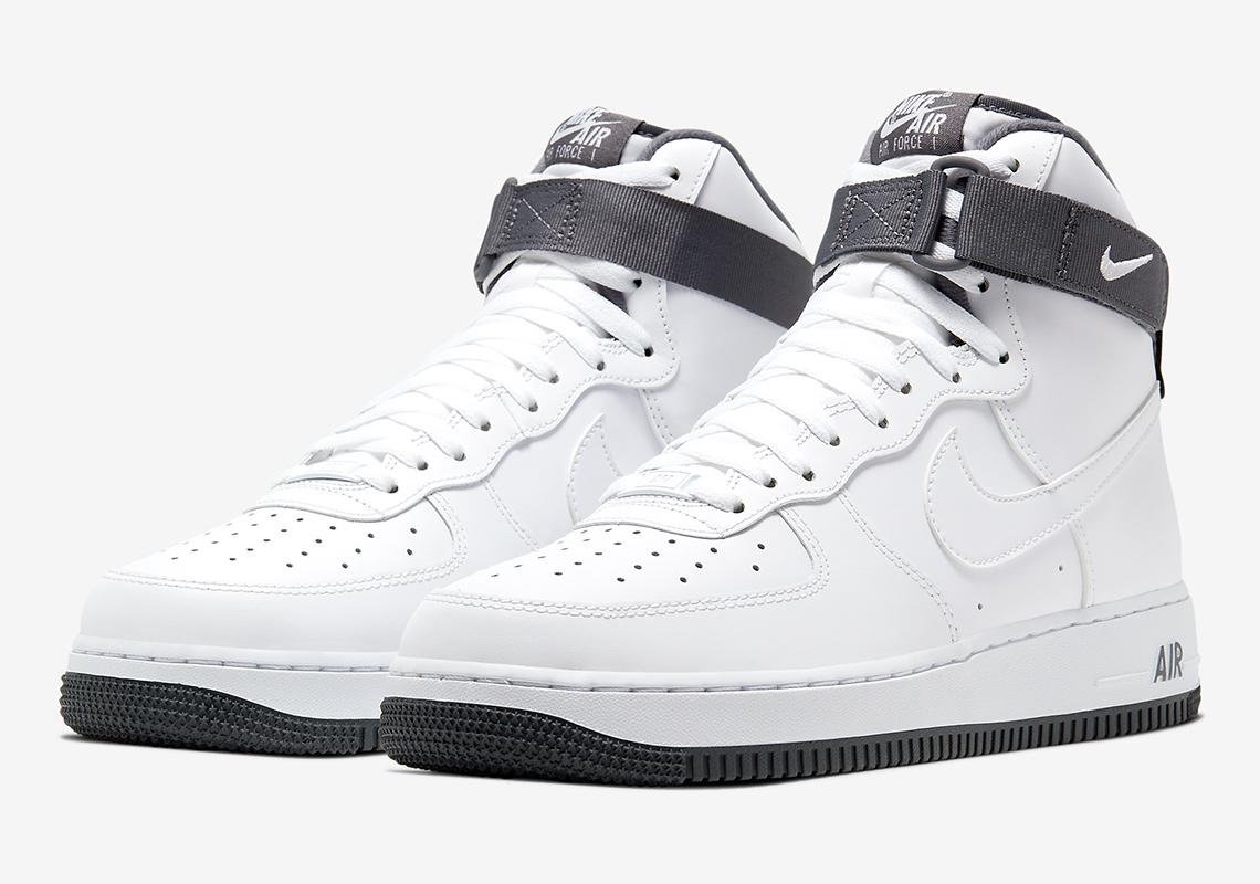 nike air force 1 high grey white