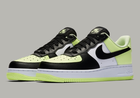 """Nike Air Force 1 Low """"Barely Volt"""" Makes Use Of Black-Toe Color-blocking"""