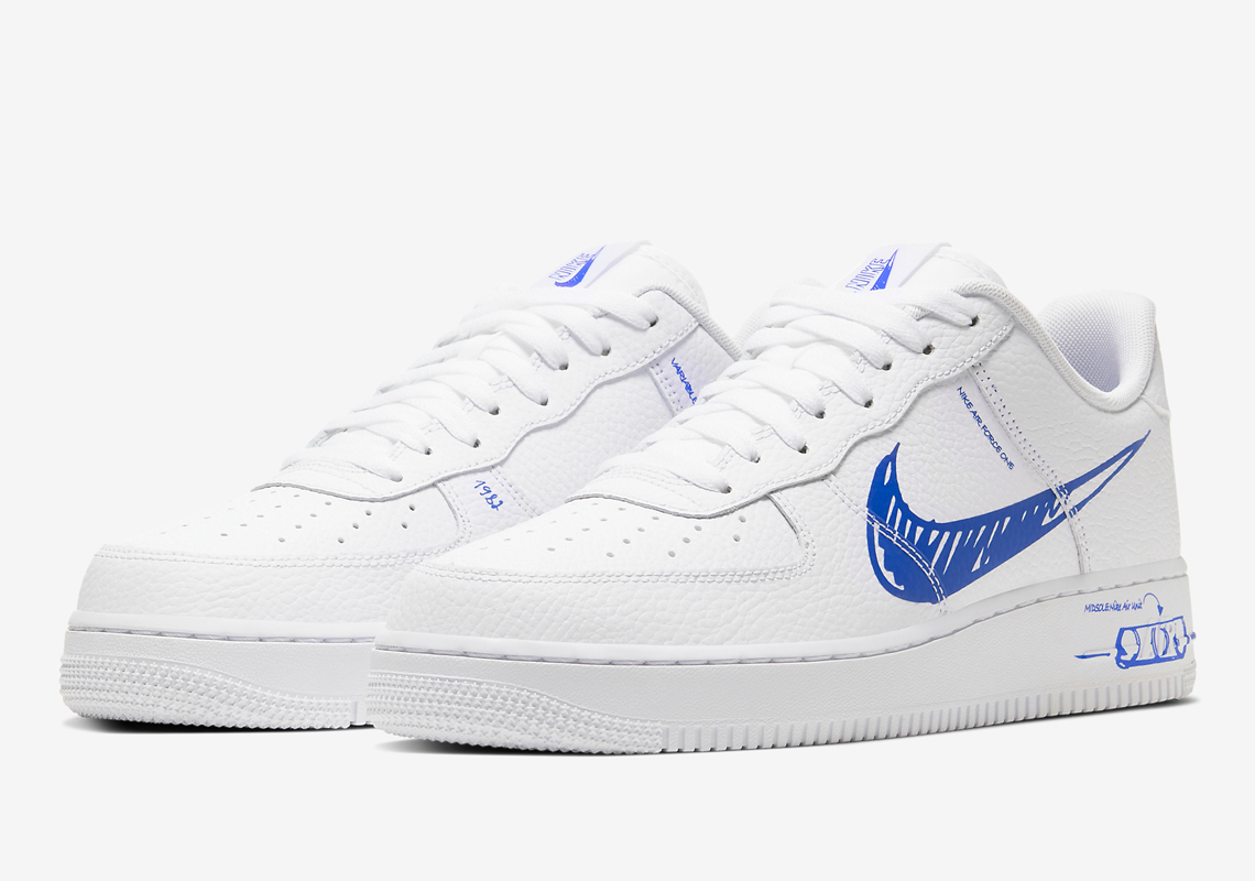 Nike Air Force 1 Low Schematic Sketch CW7581-100 | SneakerNews.com