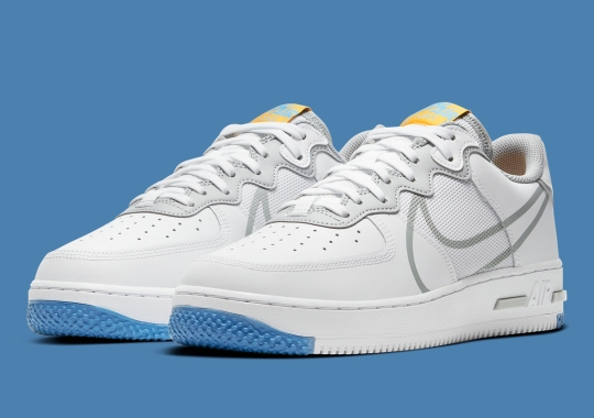 The Nike Air Force 1 React Emerges In White And Smoke Grey