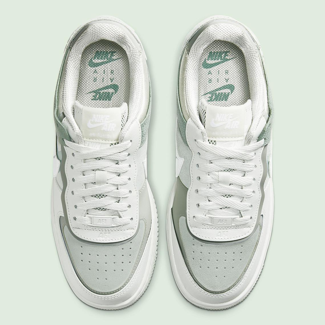 Nike Air Force 1 Shadow Spruce Aura Cw2655 001 Release Info Sneakernews Com Кожа, синтетика, текстиль, пластик, резина. nike air force 1 shadow spruce aura