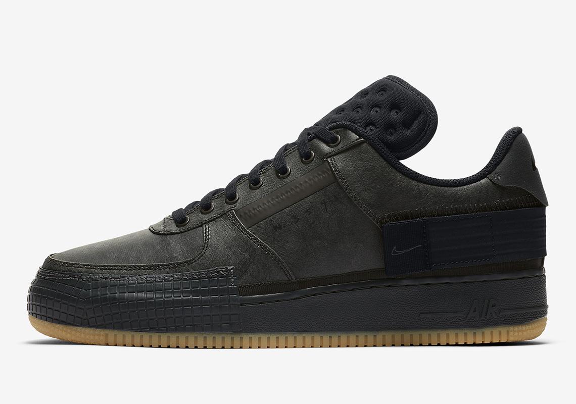 Nike Air Force 1 Type Black Gum CJ1281-001 Release Info ...