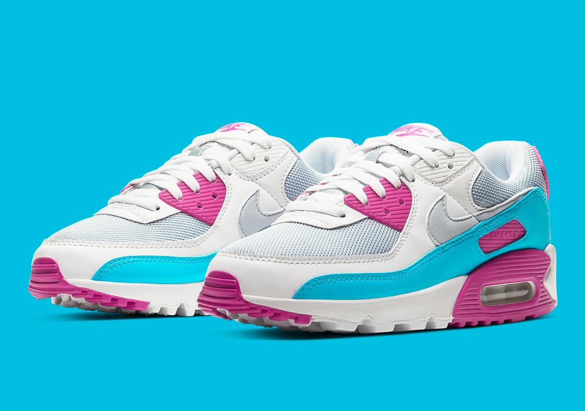 opción vitalidad error  Nike Air Max 90 Vivid Pink Neon Blue CT1030-001 | SneakerNews.com