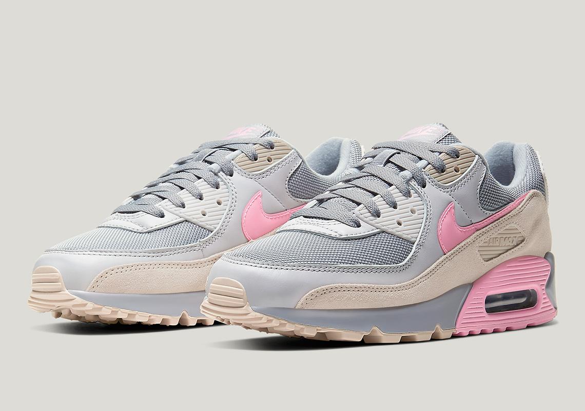 air max 90 grigio rosa