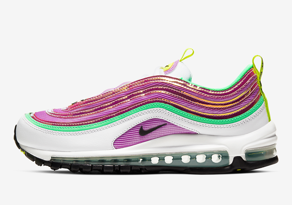 Nike Air Max 97 Pink Green Cw5591 100 Release Info Sneakernews Com
