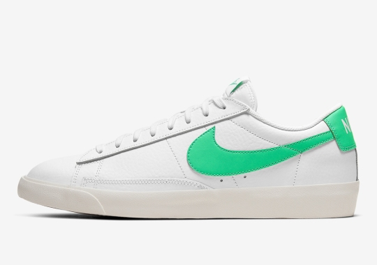 A Green Spark Secondary Unit Is Added To The Nike Blazer Low Leather