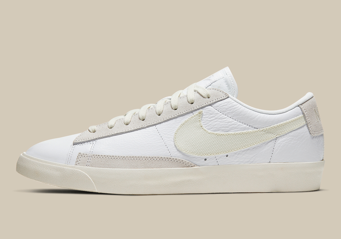 Nike Blazer Low Leather White Sail CW7585-100 | SneakerNews.com