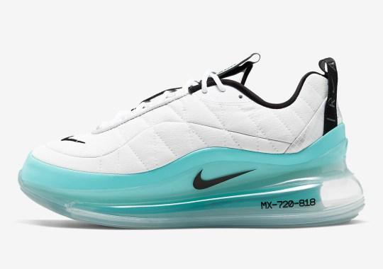 The Nike Air Max 720-818 Sits On Aqua Air Bubbles
