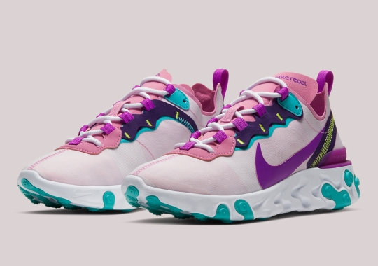 Another Multi-colored Take On The Nike React Element 55 Appears For Women