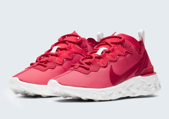 The Nike React Element 55 Goes Full Red For Valentine's Day